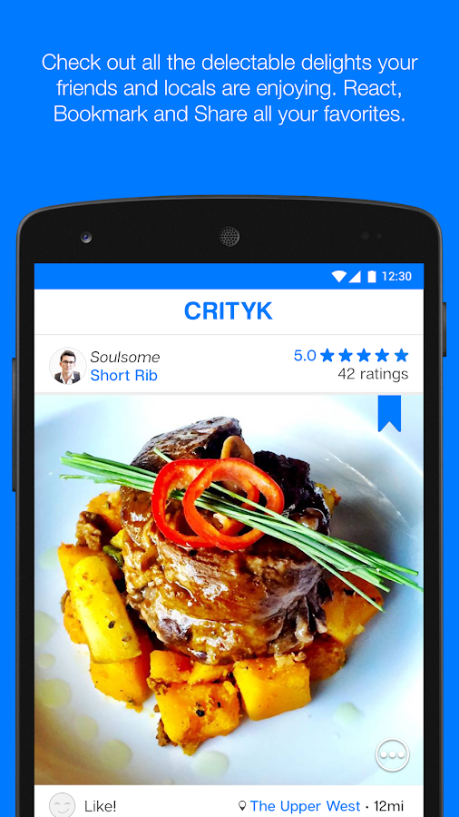 Crityk - Food Finder App- screenshot