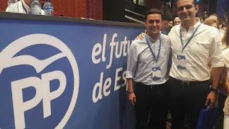 Javier Aureliano García y Ramón Fernández-Pacheco, ayer en Madrid.