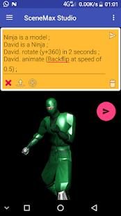 SceneMax 3D Animation Language Screenshot