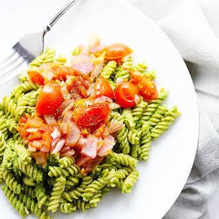 Healthy Pesto Pasta.