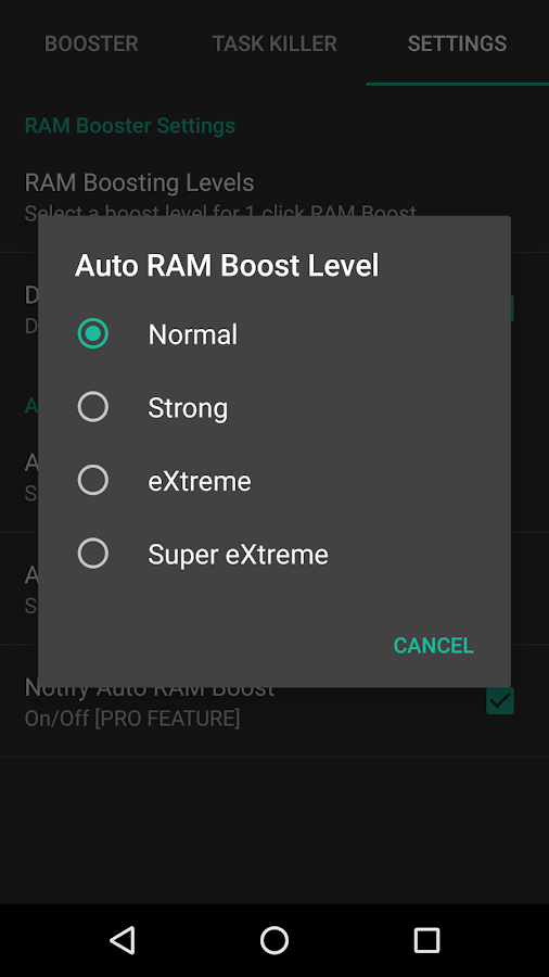 RAM Booster eXtreme Free- screenshot
