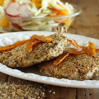 Dukkah Crumbed Chook Breast with Fennel, Radish and Orange Salad Recipe