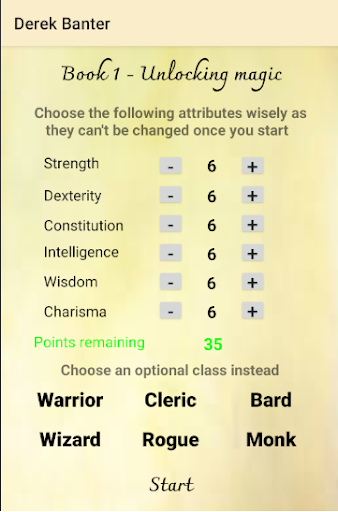 Derek Banter - Interactive text adventure RPG  captures d'écran 1