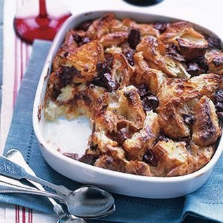 Croissant and Chocolate Bread Pudding.