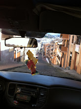 Photo: Crazy cab ride, Old Town Quito.  You can't tell but this descent is insane.  Hoping the breaks work.