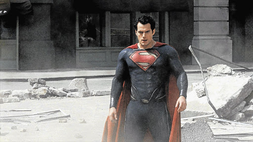 Henry Cavill as Superman in a scene from 'Man of Steel'.