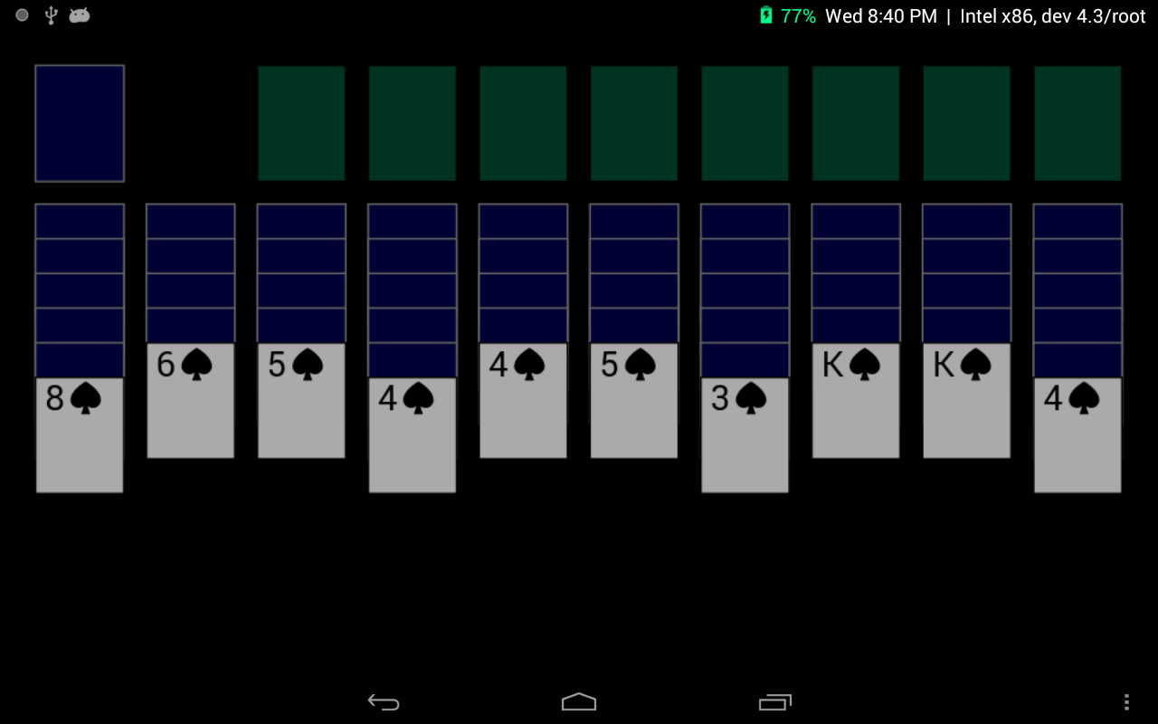 A 389KB Spider Solitaire Game- screenshot