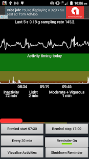 Activity Reminder & PA tracker - náhled