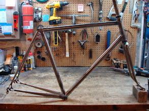 Photo: Finished frame and fork, ready for the polisher and then paint!