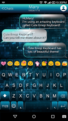 Neon Clock Emoji Keyboard Skin