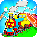Train Coloring Book & Drawing Game icon