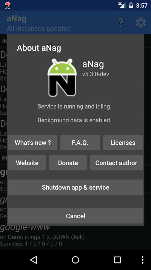 aNag – Screenshot