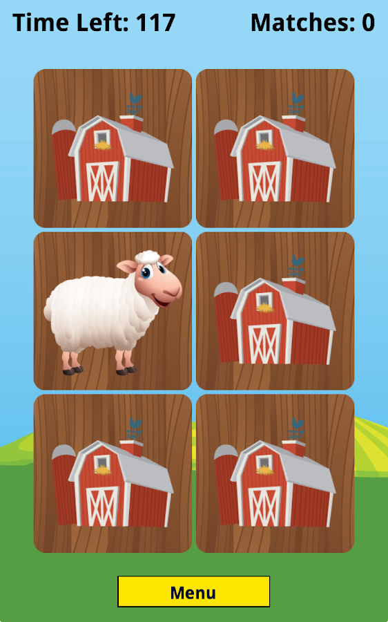 Farm Animal Picture Match- screenshot