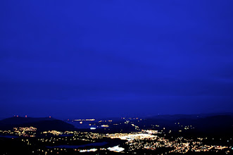 Photo: Duncan BC from Mt.Prevost at dusk