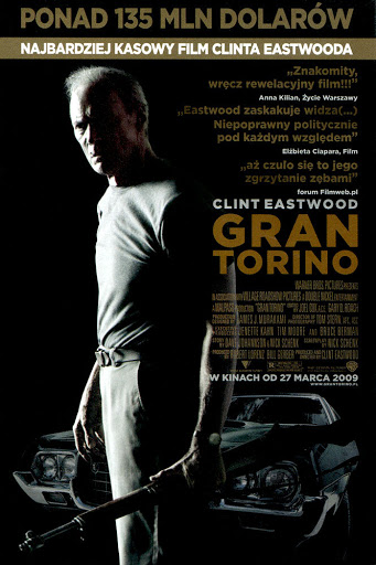 Przód ulotki filmu 'Gran Torino'