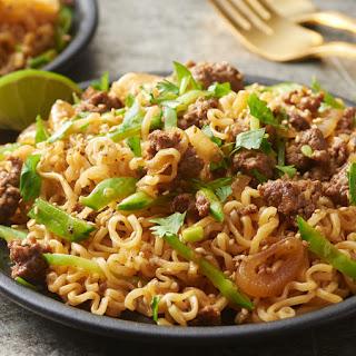 Sesame Ginger Beef Ramen Noodles.