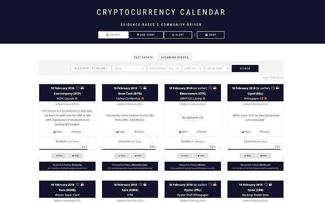 CoinMarketCal to Google Calendar