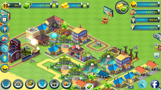 Town Building Games: Tropic Town Island City Sim