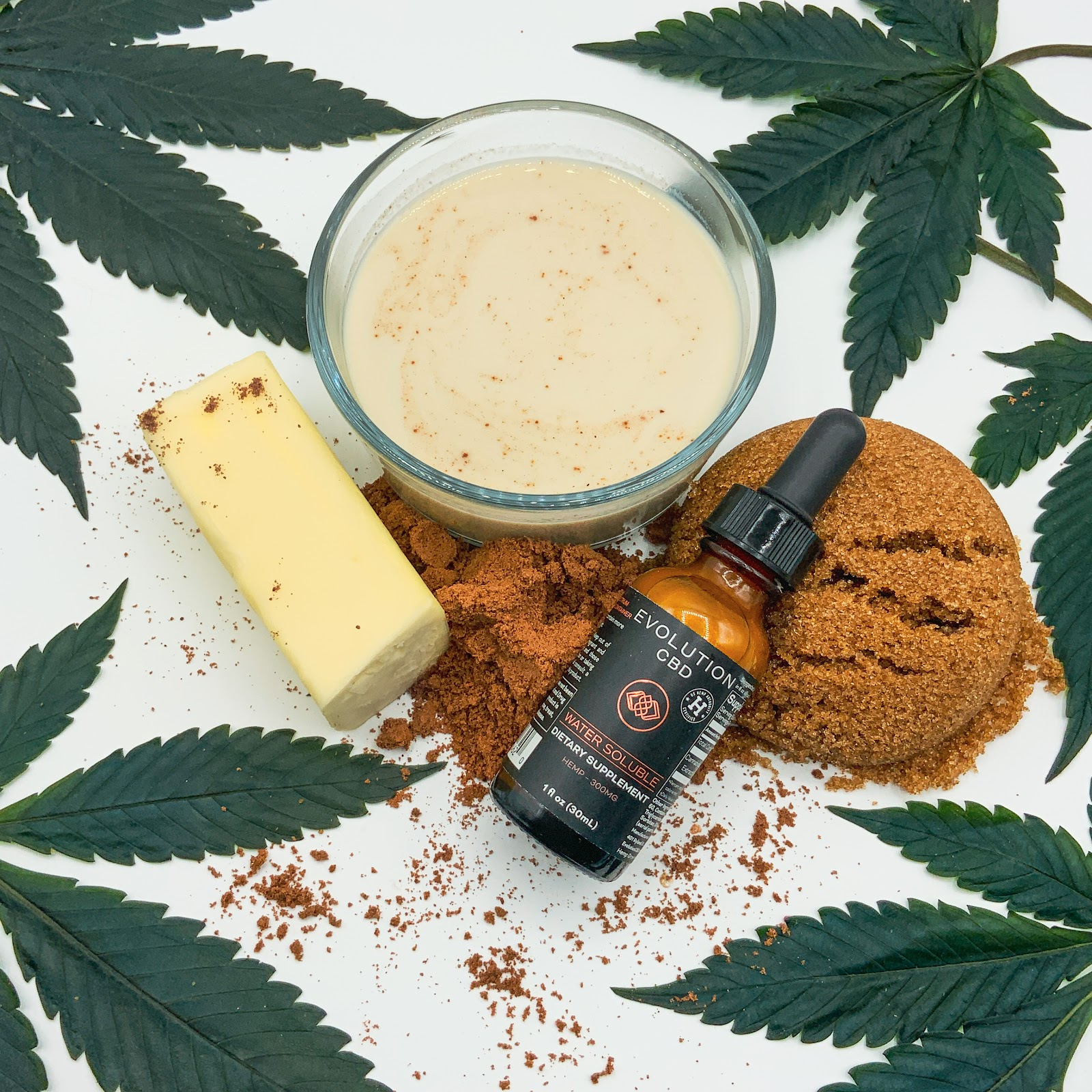 No bake CBD Cookies with ingredients