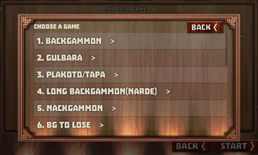 Backgammon Pack : 18 Games 6.060 androidappsheaven.com 9
