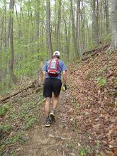 Photo: John heading up Bird Mountain