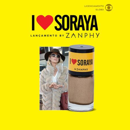 O esmalte dourado de Soraya - Letícia Spiller