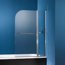 Duschkabinen_08 Exklusiv Badewannenaufsatz, 2-teilig mit Ablage und Handtuchhalter