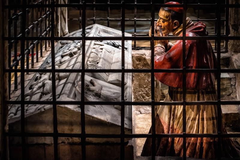 San Carlo Borromeo in adorazione davanti al Sepolcro di Cristo di Sergio Locatelli