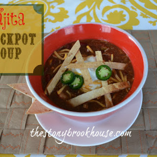 Easy Fall Fajita Soup.