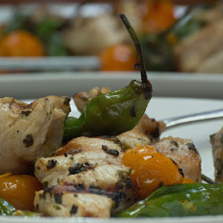 Chicken and Shishito Pepper Kebabs