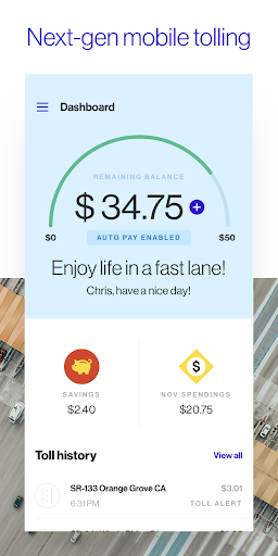 Toll Road Payment Trip Calculator