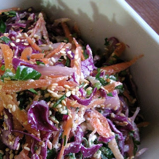 Red Cabbage Slaw With Sesame And Feta
