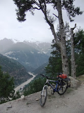 Photo: on the way down to powari. sutlej below...