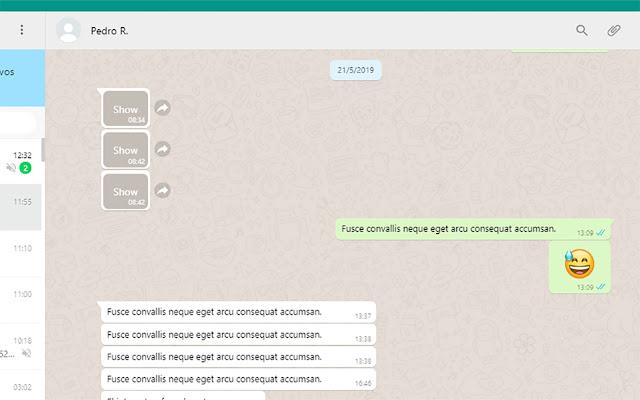 Whatsapp Content Block