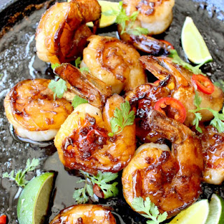 Honey Garlic Shrimp Recipe with Mango Habanero Salsa