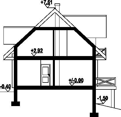 Cisów mały dw - Przekrój