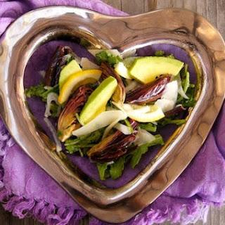 Lemon Roasted Baby Artichoke and Avocado Salad with Sherry Vinaigrette