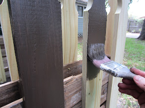 Photo: Step 4: I use a 15 year opaque stain (Behr I think), which is dark and has the uniformity of paint, but the penetrating properties of a stain.