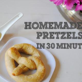 Homemade Pretzels in 30 Minutes.