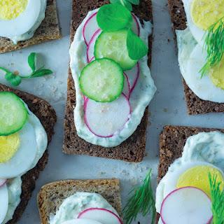 Danish-style Open-faced Sandwich .