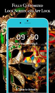 App Lock Theme - Carnival Mask - náhled