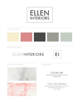 Ellen Interiors Brand Board - Poster item