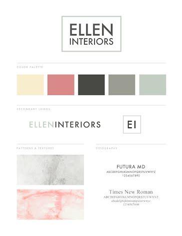 Ellen Interiors Brand Board - Brand Board Template
