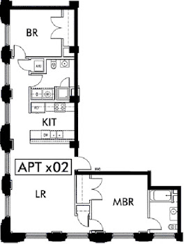 Go to Lincoln American Tower - B2 Floorplan page.