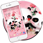 Rose Amour de panda icon