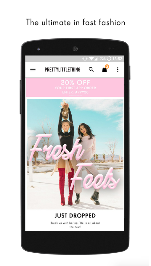 PrettyLittleThing- screenshot
