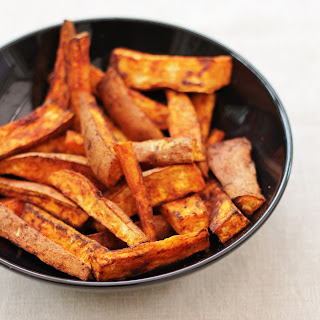 Homemade Sweet Potato and Smoked Paprika Chips.