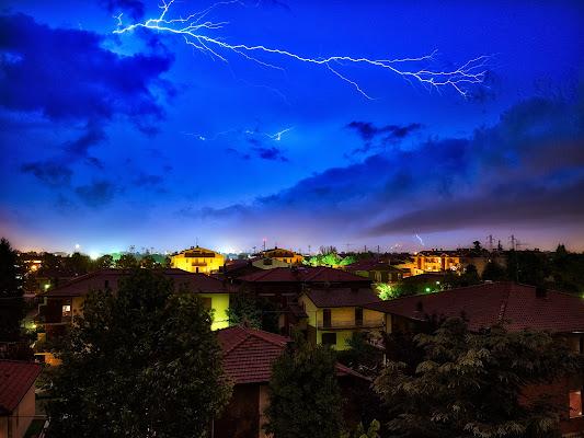 Fulmini sulla città di alagnol