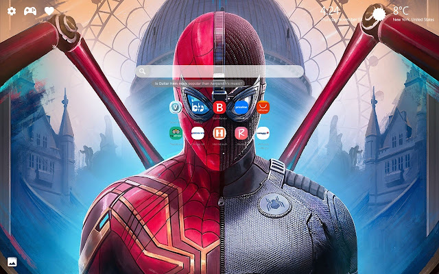 Spider Man Far From Home New Tab Wallpaper Hd