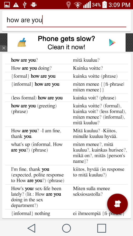 Finnish English Dictionary Offline - Android Apps on Google Play